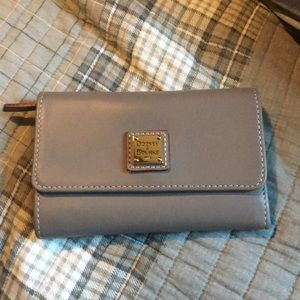 Dooney and Bourke Taupe Leather Wallet